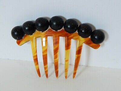 Antique Hair Comb with Attached Removable Beads Balls