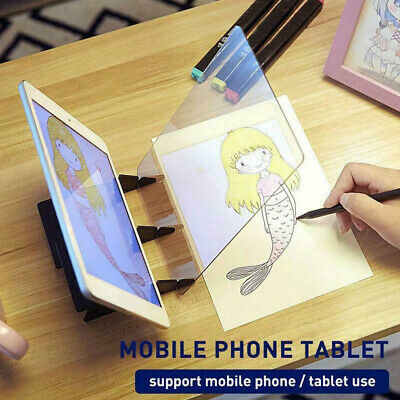 Drawing Board Optical Image Sketch Reflection Dimming Painting Mirror Plate AU