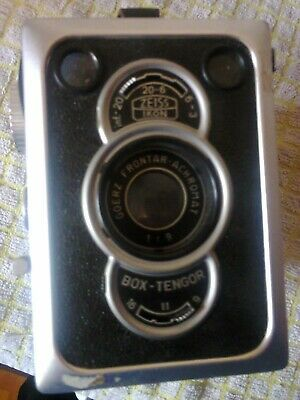 Zeiss Ikon Box Tengor, Goerz Frontar Box Camera, with carry case & instructions