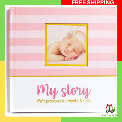 Baby Memory Book and Baby Journal For Girls Baby Shower Gifts Ideas NEW AU Stock