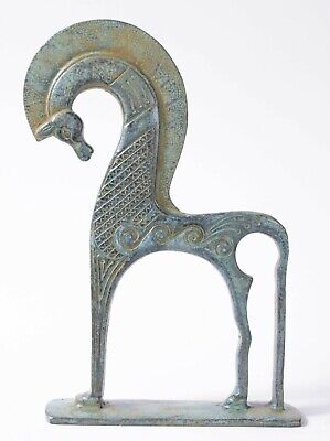 Greek Horse Bronze Statue -Horse Figurine of Abstract Sculpture - Made in Europe