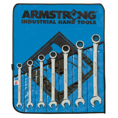 Armstrong 25-661: 7 Piece 12 Point Full Polish Ratcheting Combination Wrench Set
