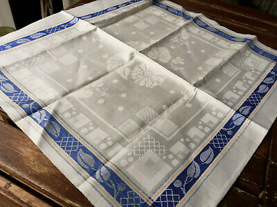 Art Deco Leinen Damast Geschirrtuch/Set um 1925,Antique LinenTowel