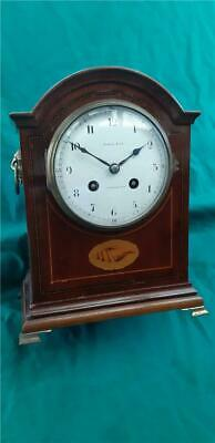 Antique 19th Century Wooden Mantle Clock by Maple & Co. Paris & London