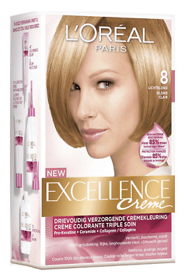L'Oreal Haarverf - Excellence Crème nr. 8 Lichtblond
