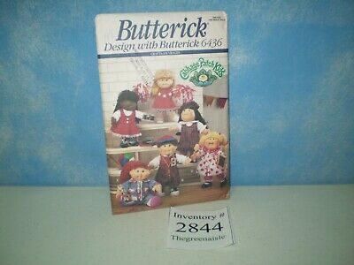 New Uncut Butterick 1992 Cabbage Patch Kids CPK Sewing Pattern 6436 One Size