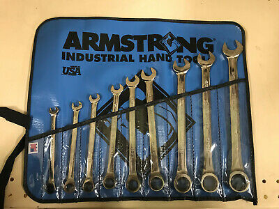 Armstrong 25-667 9 Piece* 12 Point Full Polish Ratcheting Combination Wrench Set
