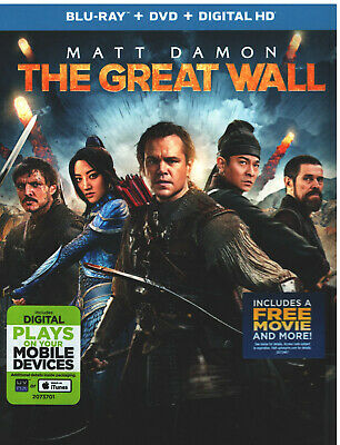 GREAT WALL (Blu-ray/DVD, 2017, Includes Digital Copy) NEW WITH SLEEVE