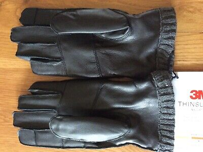 DENTS Men/'s 100/% Wool Knit Gloves With Elasticated Rib Knit Cuff /& 3M Thinsulate