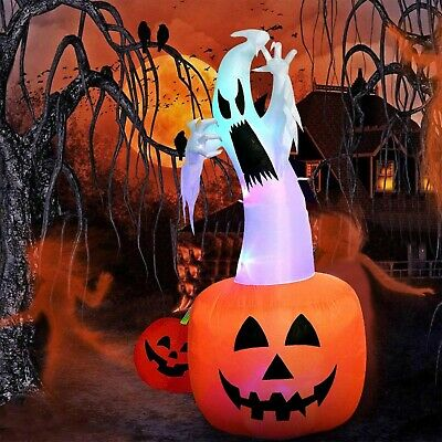 Halloween Inflatable Home Decoration Lighted Ghost Pumpkin Yard Prop Decor 6Ft