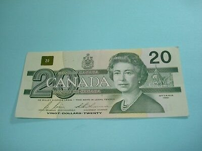 1991 - Canada $20 bill - Canadian twenty dollar note - EVD3909395