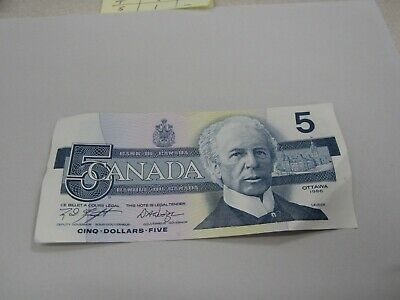 1986 - Canada $5 bill - Canadian five dollar note - ANR6583640