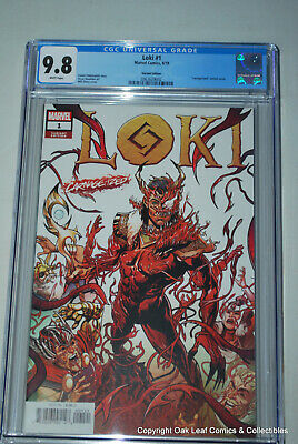 Loki 1 Carnage-ized Sliney Variant CGC 9.8 NM/M Marvel Comic Book 2019