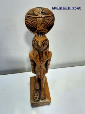 ancient egyptian statues of king horus the falcon god stone antiques carved