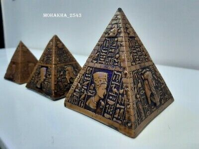 Ancient Egypt stone Pyramids Of Giza  3 Amazing Solid Hand Carved