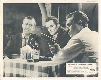 The Great St. Louis Bank Robbery Original Lobby Card Steve Mcqueen With Gun