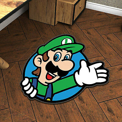 Super Mario Luigi Cute Velboa Floor Rug Carpet Doormat Non-slip Chair Mat10#