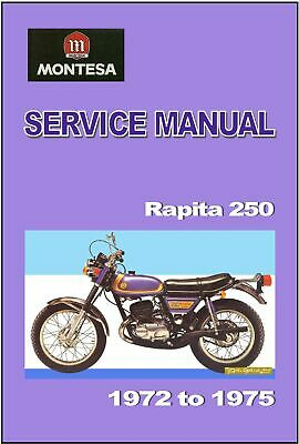 MONTESA Workshop Manual Rapita 250 1972 1973 1974 & 1975 Service & Repair