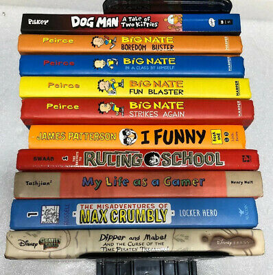 MIX LOT OF 10 BIG NATE  DOG MAN Ruling School by Dav Pilkey Hardcover and More.