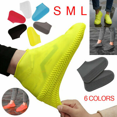 Resistant  Silicone Overshoes Rain Waterproof Shoe Covers Boot Protector Outdoor