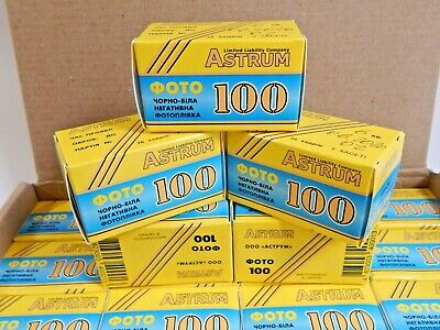 Film 35mm ASTRUN 100 B&W 36 EXP Negative 135/35 (x5 ROLL) LOT Lomography SVEMA !