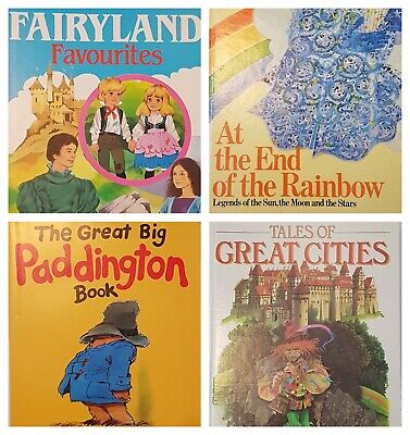 Vintage Children's Anthology Books Lot Set Fairy Tales Tales Legends Paddington