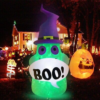 Ghost Halloween Inflatable LED Light Home Decor Haunted House Outdoor Yard Prop
