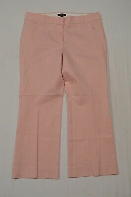 J.CREW 8 Pink E8366 Teddie Slim Cropped Dress Pants