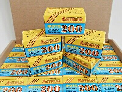 ASTRUN 200 Film 35mm B&W 36 EXP Negative 135/35 (x5 ROLL) LOT Lomography SVEMA !