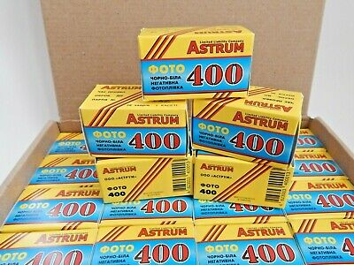 Film 35mm ASTRUN 400 B&W 36 EXP Negative 135/35 (x5 ROLL) LOT Lomography SVEMA !