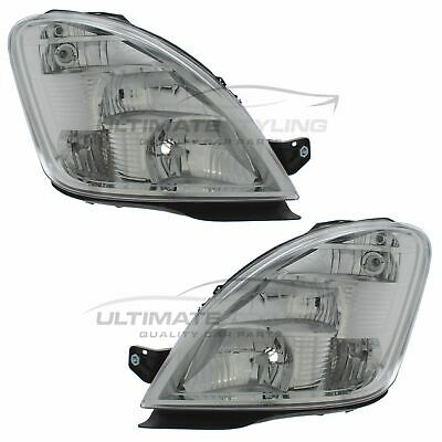 Iveco Daily 2006-2012 Chrome Front Headlight Headlamp Pair Left & Right