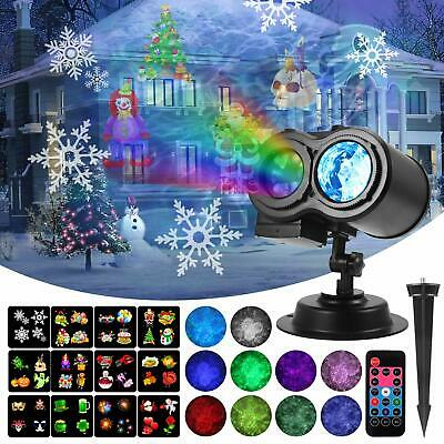 Holiday Lights Projector Remote Control Halloween Christmas Home LED Light Decor