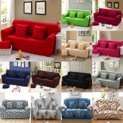 1/2/3 Seater Stretch Elastic Sofa Covers Slipcover Settee Floral Couch Protector