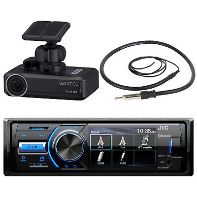 Marine MotorSports Stereo Bluetooth Stereo AM/FM Receiver, Dash Camera, Antenna
