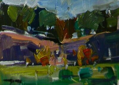 JOSE TRUJILLO - OIL PAINTING Impressionism MODERN NATURE SIGNED - ABSTRACT