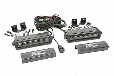 "Rough Country 6"" CREE LED Light Bars Pair Black Series"
