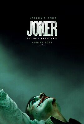 Joker Original Double Sided US One Sheet 27x40 Movie Poster Joaquin Phoenix Adv