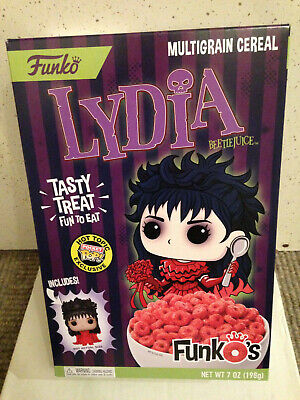 Funko Beetlejuice Lydia Funkos Cereal Box & Pocket Pop Hot Topic Exclusive New