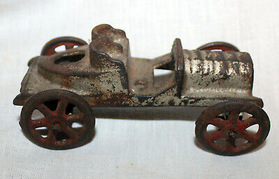 Genuine Antique Cast Iron Two seat car Missing driver Maker Unknown