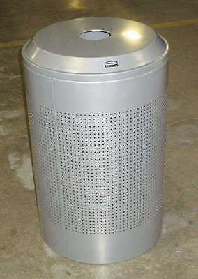 Rubbermaid Silhouettes Silver Metallic Round Receptacle DRR2-4P