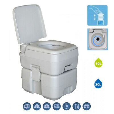 10L 20L Portable Toilet Flush Travel Camping Outdoor/Indoor Potty Commode