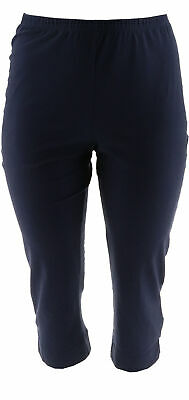 Women with Control Crop Pants Navy XXS NEW A308483