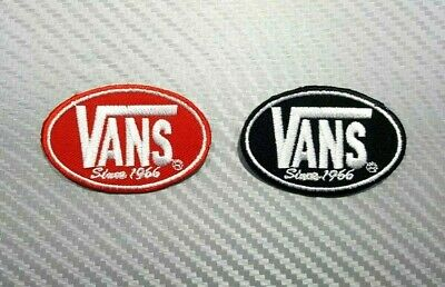 VANS OFF THE WALL SKATEBOARD SPORTS BIKER CAP Embroidered Patch Iron Sew Logo