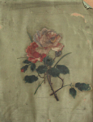 Antique floral flowers roses oil painting