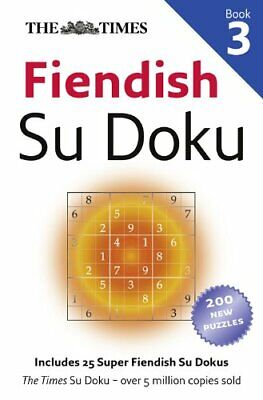 The Times Fiendish Su Doku Book 3, Games New 9780007319671 Fast Free Shipping+-
