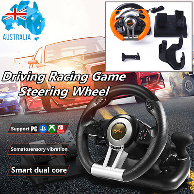 PXN V3II Racing Game Steering Wheel + Brake Pedal For PC PS3 PS4 Xbox One Switch