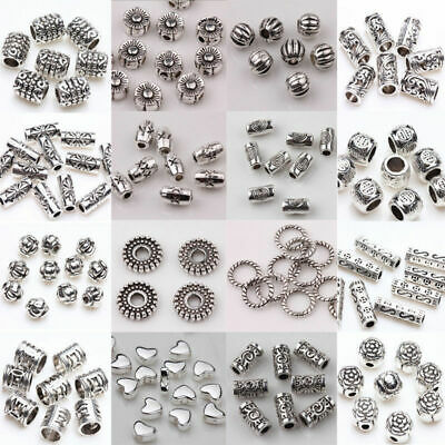 20/50/100x Tibetan Silver Metal Loose Tube Spacer Beads Jewelry Making Charms Dw