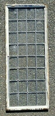"Antique 32 Pane Leaded Clear Glass Window,Steel Frame 47"" by 19"" by 1-1/4"", 25#"