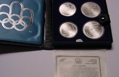 CANADA 1976 Olympics, series VI contains 4.32 oz sterling silver.