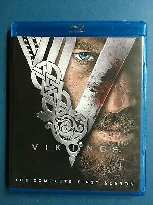 Vikings The Complete First Season Blu-Ray 3 Disc Set Rare USED